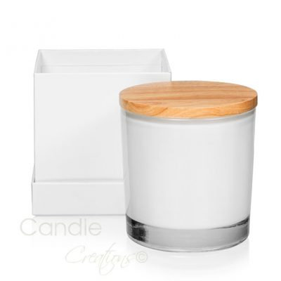Maxi Opaque White Veluto Jar with Optional Gift Box