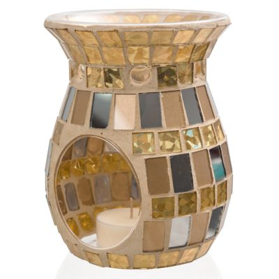 Mosaic Oil Burner Gold