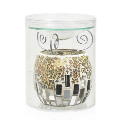 Mosaic Oil Burner Silver Mirror
