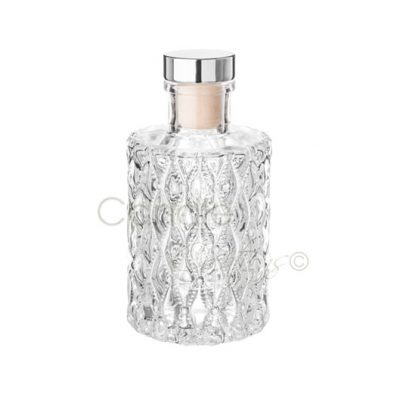 Round Diamond Design Diffuser Jar