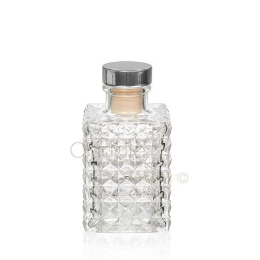 Square Diamond Design Diffuser Jar