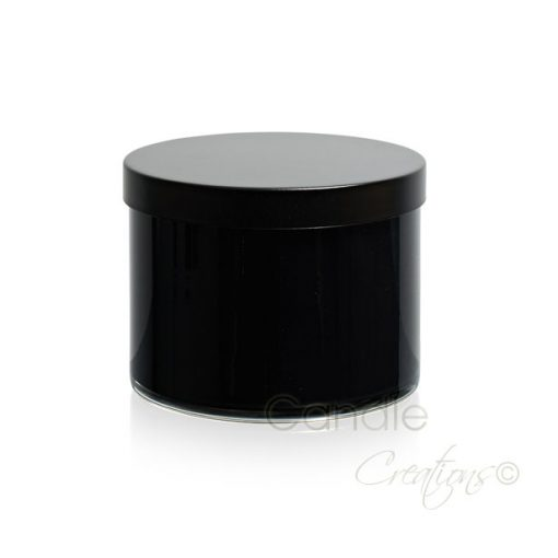 Gloss Black Cylinder Jar 851 with optional black lid