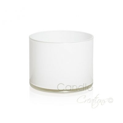 Gloss white cylinder jar 851