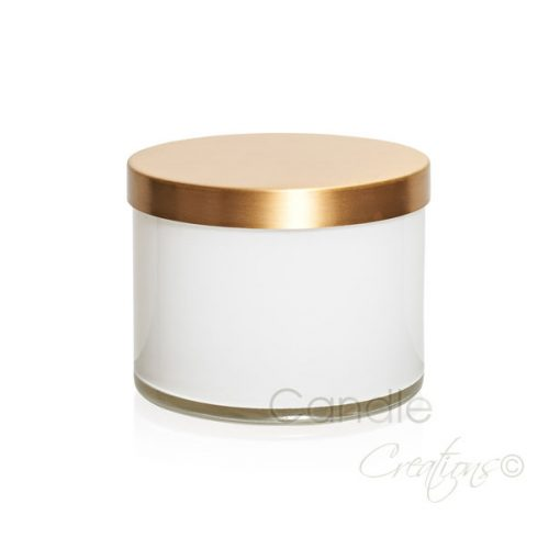 Gloss white cylinder jar 851 with optional gold lid