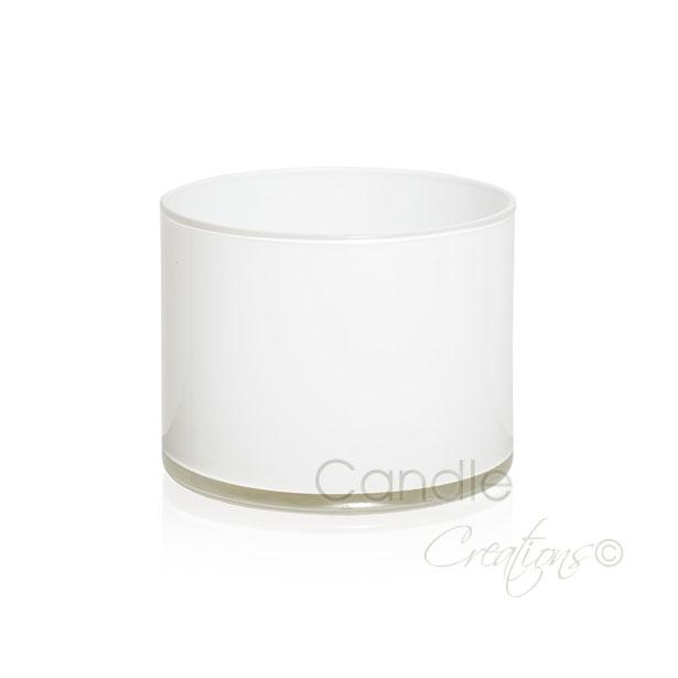 Gloss white cylinder jar 851