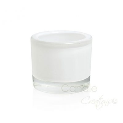 Medium Opaque White Veluto Jar