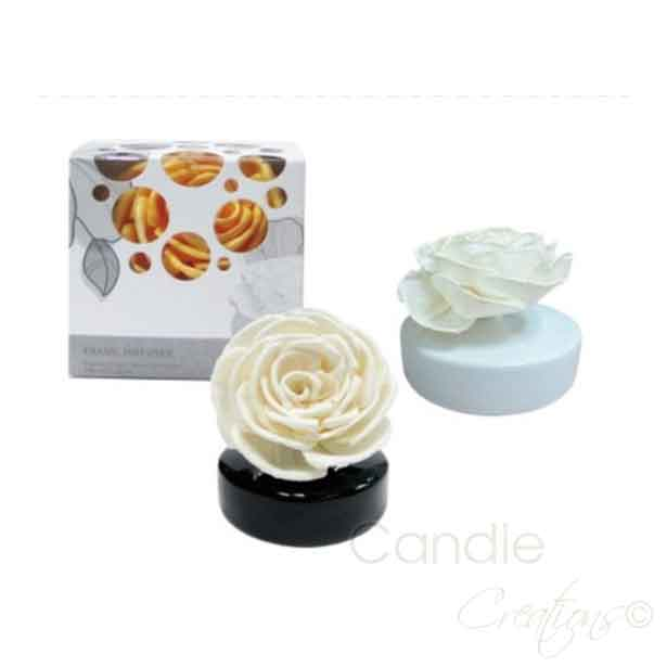 Diffuser Flower Set Rose Amp White Vase Candle Creations