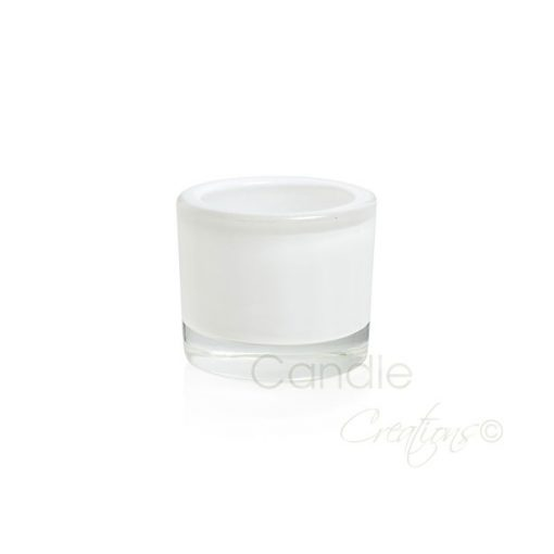 Small Opaque White Veluto Jar