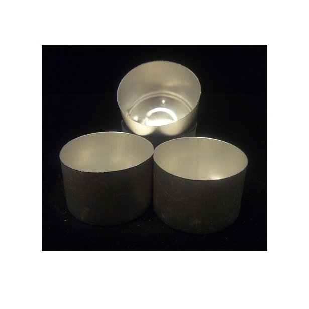 Tea Light Cups 9hr Aluminium