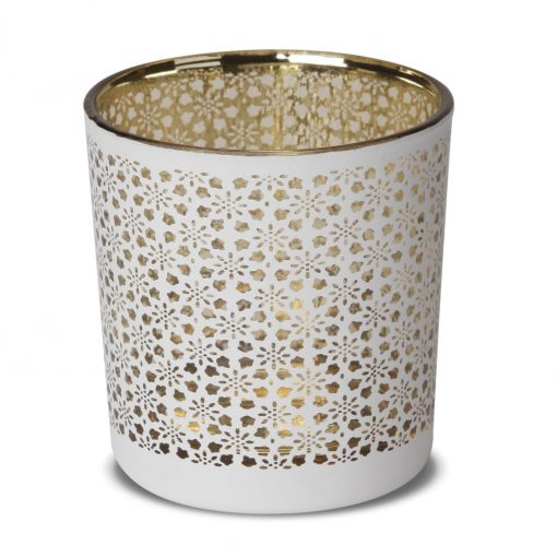 Snowflake White Candle Jar