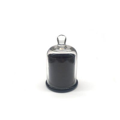 Cloche Candle Jar Gloss Black | Small