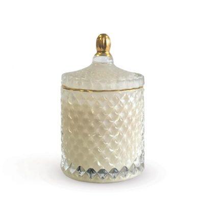 Medium Geo Jar Royal White
