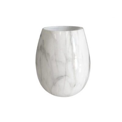 Renee Jar White Marble