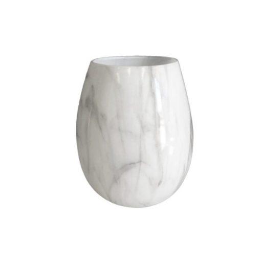 Renee Jar White Marble