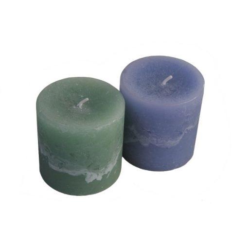 Feathering Palm Wax Pillar Candles