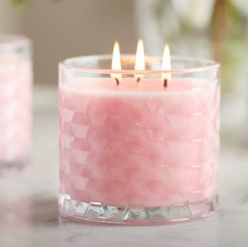 Hexagon Candle Jar by Libbey