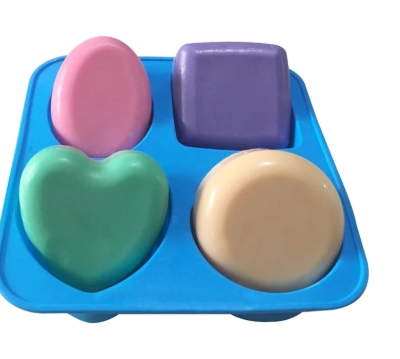 4 x Soap Cavity Silicone Mold