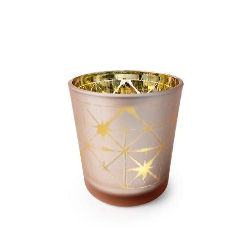 Pink Star Candle Jar