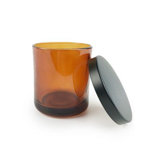 Amber Candle Jar