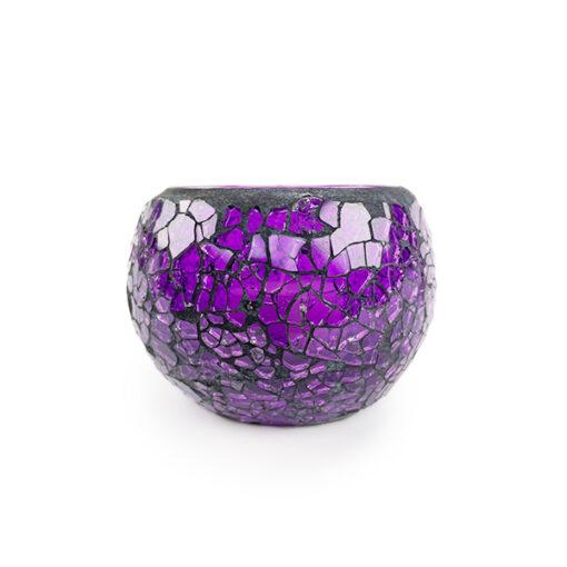purple crackle mosaic