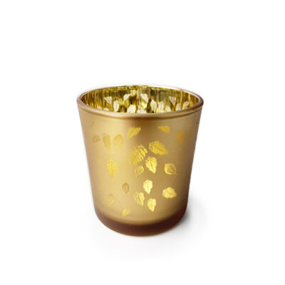 Golden Leaves Candle Jar