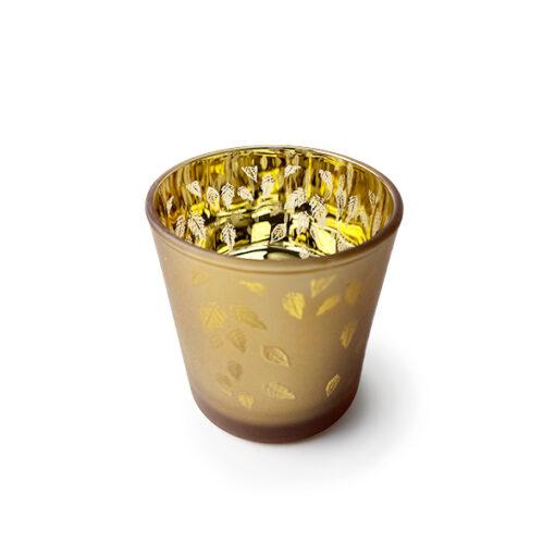 Golden Leaves Candle Jar