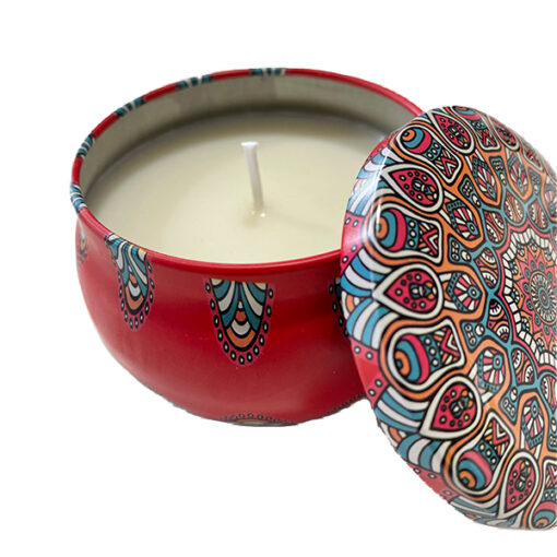 Red Decorative Candle Tin